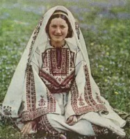 Christian woman with embroidered dress 1926.